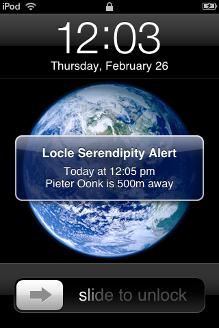 Locle for iPhone Serendipity™ Alert